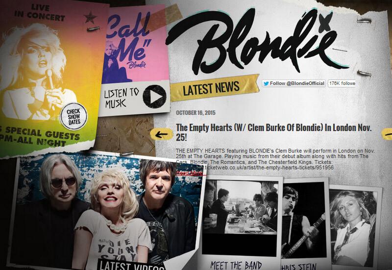Blondie - 47 Famous Websites Using WordPress As Their CMS