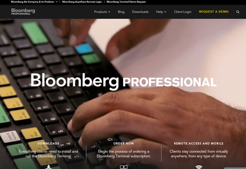 Bloomberg Professional - 47 Famous Websites Using WordPress As Their CMS