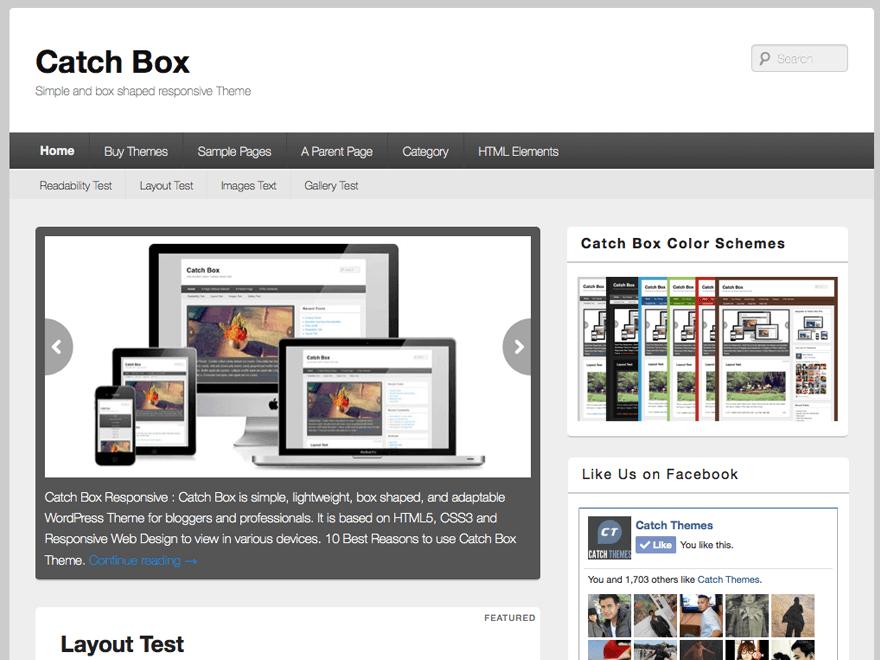 Catch Box - 50+ Best Free Responsive WordPress Themes 2020