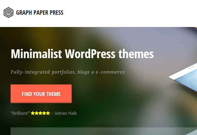 Graph Paper Press - 25+ Best Marketplaces for Premium WordPress themes and Plugins