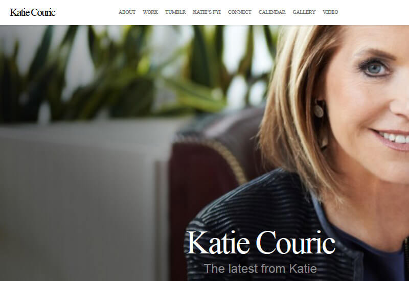 Katie Couric - 47 Famous Websites Using WordPress As Their CMS