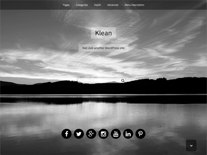 Klean - 50+ Best Free Responsive WordPress Themes 2019