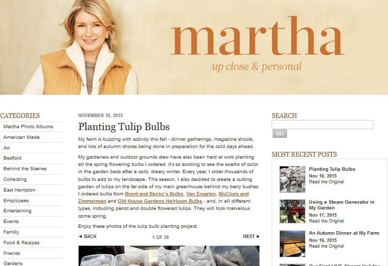 Martha Stewart - 47 Famous Websites Using WordPress As Their CMS