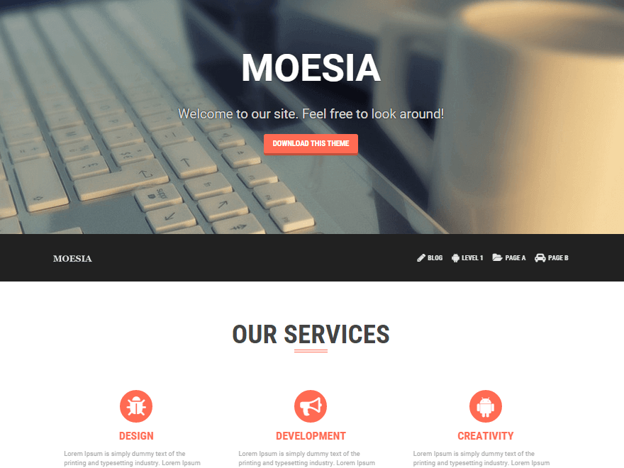 Moesia - 50+ Best Free Responsive WordPress Themes 2019