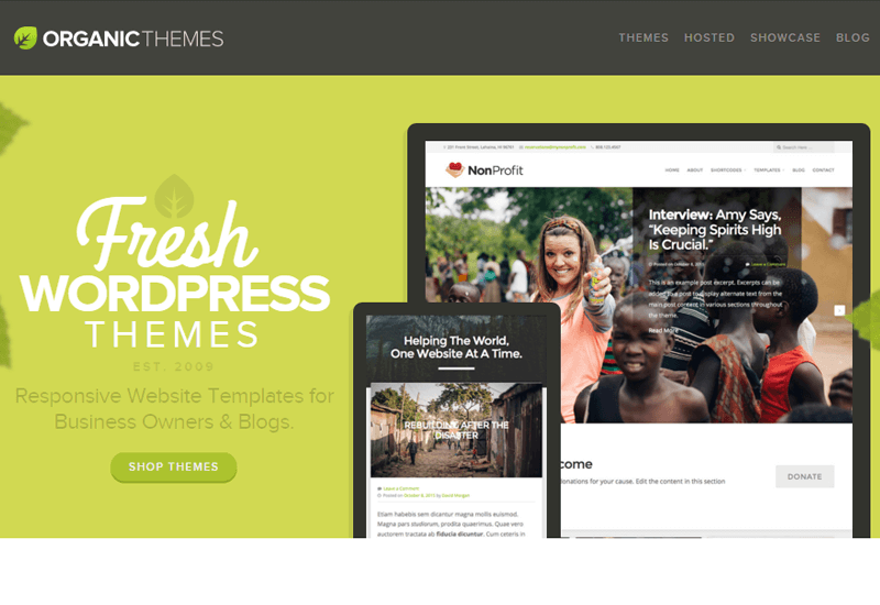 OrganicThemes - 25+ Best Marketplaces for Premium WordPress themes and Plugins