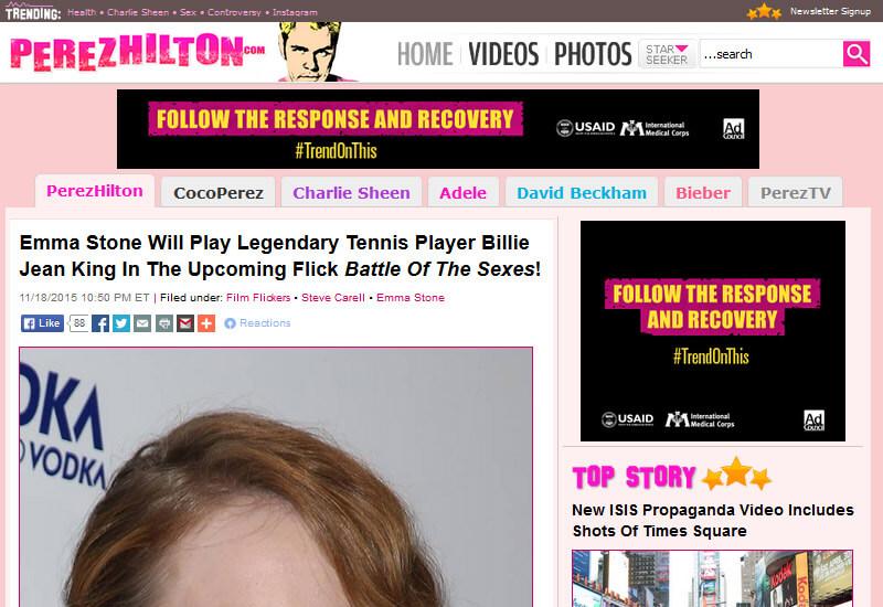 Perez Hilton - 47 Famous Websites Using WordPress As Their CMS