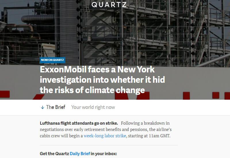 Quartz - 47 Famous Websites Using WordPress As Their CMS