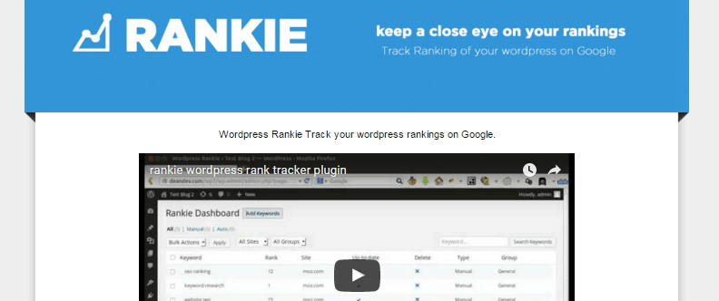 Rankie - 27+ Best Free Premium WordPress SEO Plugins 2019
