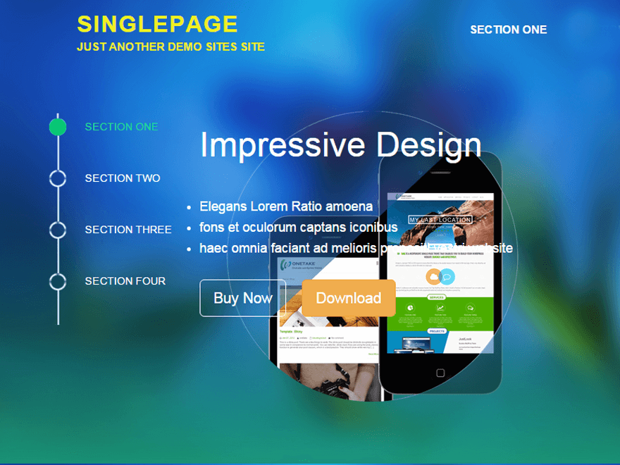 SinglePage - 50+ Best Free Responsive WordPress Themes 2020