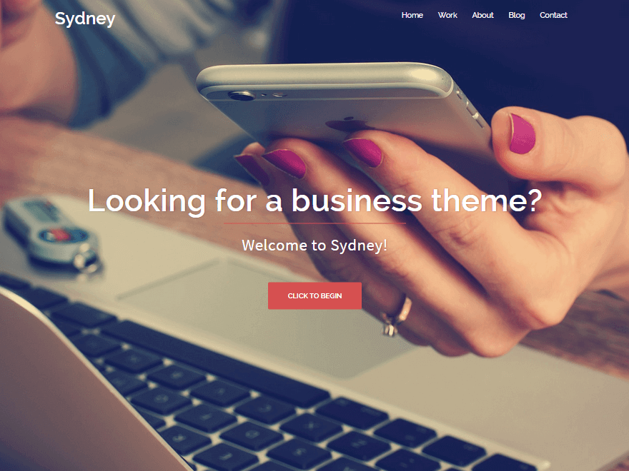 Sydney - 50+ Best Free Responsive WordPress Themes 2019