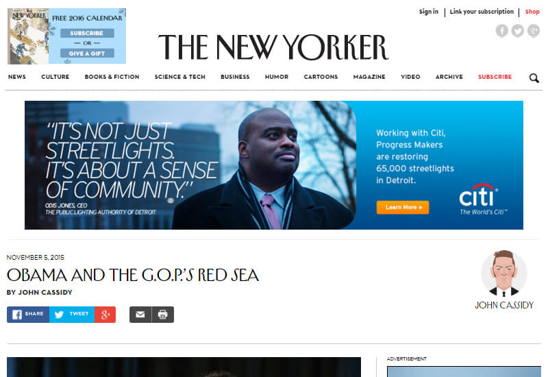 The New Yorker - 47 Famous Websites Using WordPress As Their CMS