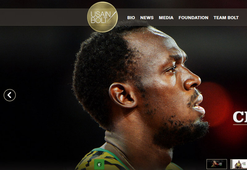 Usain Bolt - 47 Famous Websites Using WordPress As Their CMS