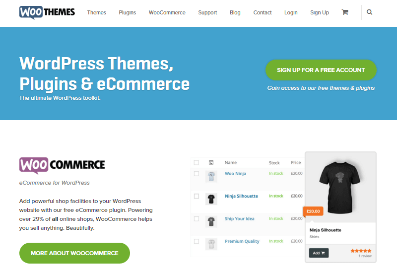 WooThemes - 25+ Best Marketplaces for Premium WordPress themes and Plugins