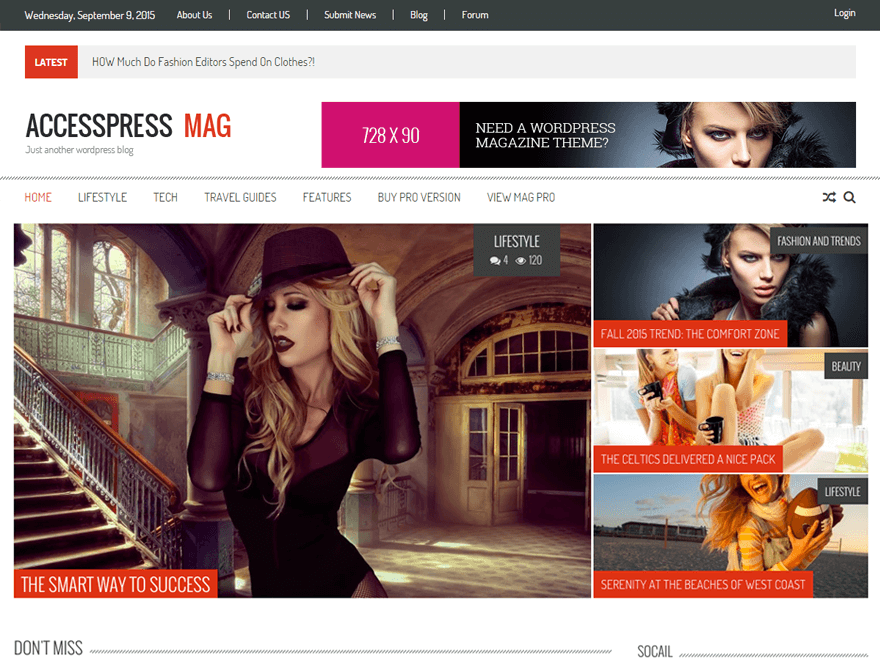 accesspress mag - 25+ Best Free Responsive Magazine WordPress Themes 2019