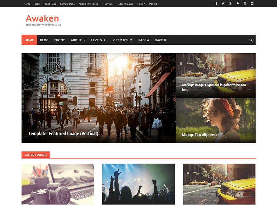 awaken - 25+ Best Free Responsive Magazine WordPress Themes 2020