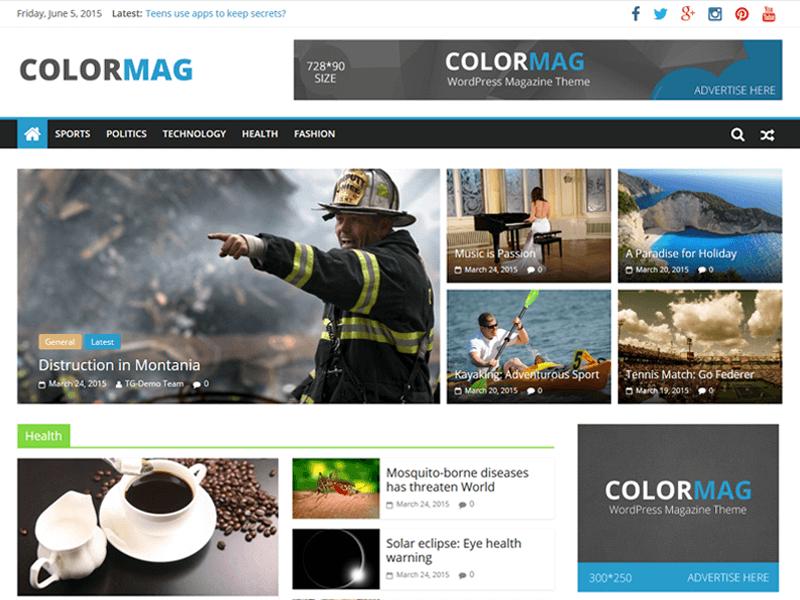 color mag - 25+ Best Free Responsive Magazine WordPress Themes 2020