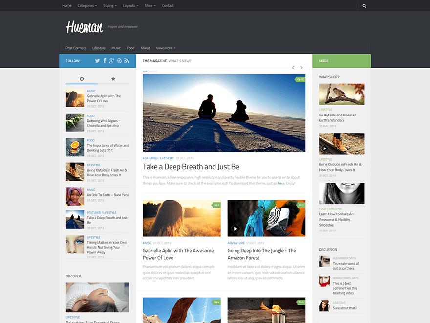 hueman - 25+ Best Free Responsive Magazine WordPress Themes 2020