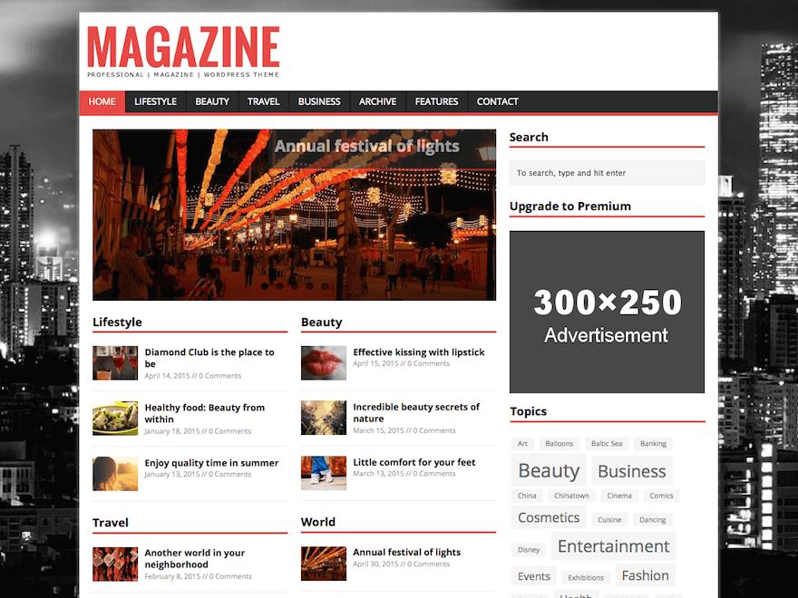 mh magazine lite - 25+ Best Free Responsive Magazine WordPress Themes 2020