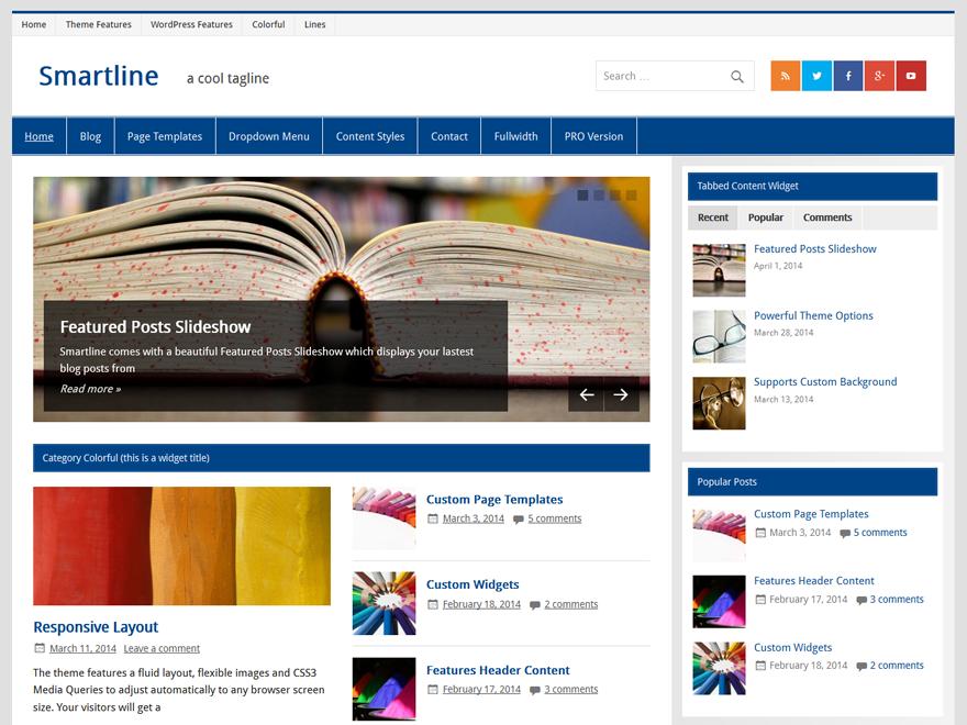 smartline marg - 25+ Best Free Responsive Magazine WordPress Themes 2020