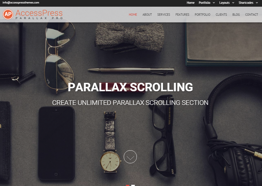 AccessPress Parallax Pro - Premium One-page WordPress Theme