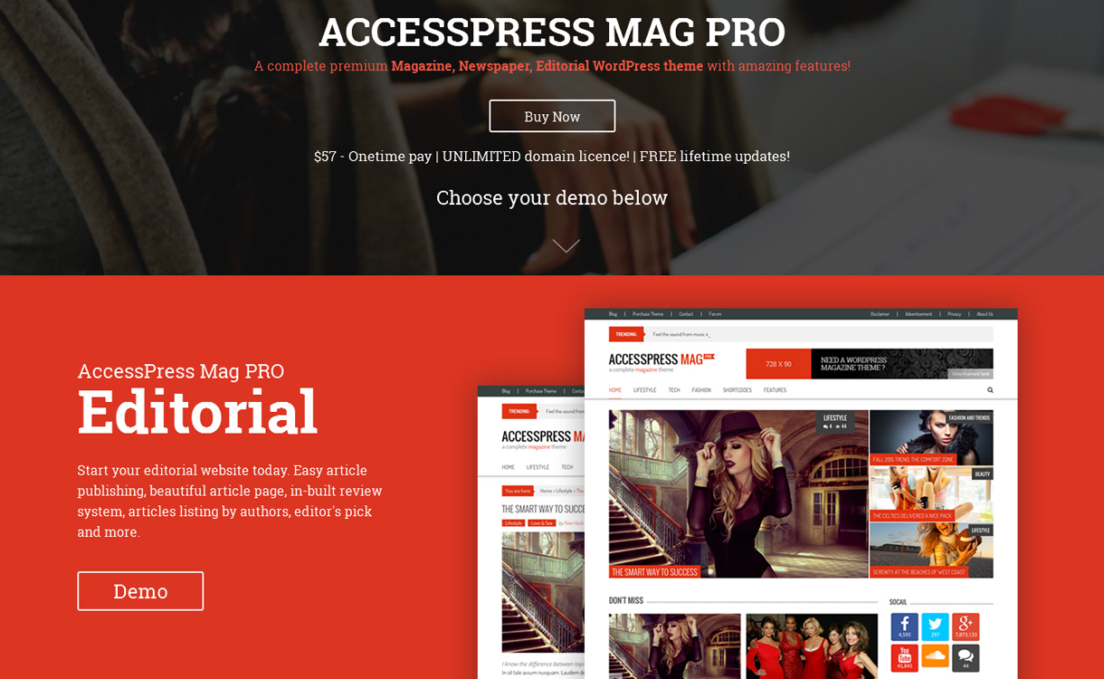 AccessPress Mag Pro - Premium Magazine WordPress Theme