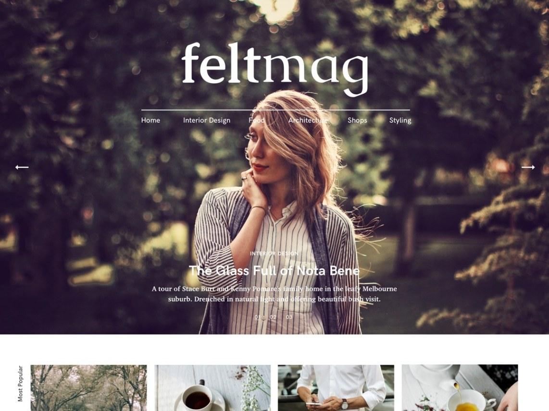 Felt Free - 50+ Best Free Responsive WordPress Themes 2020
