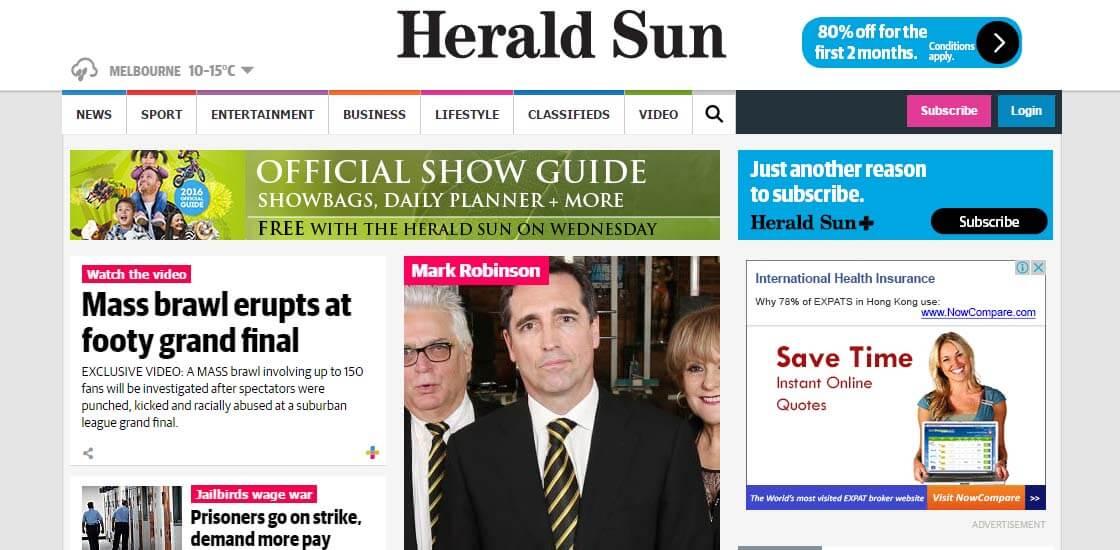 Herald Sun - 47 Famous Websites Using WordPress As Their CMS