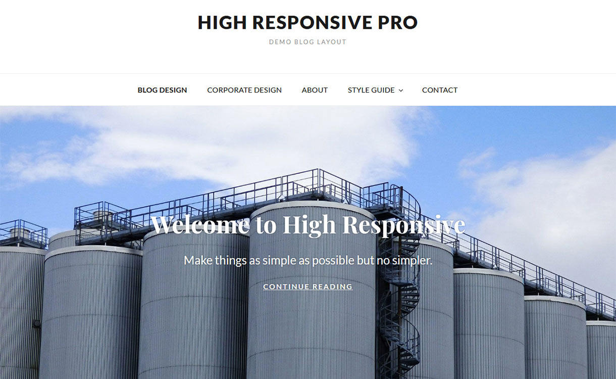 High Responsive Free WordPress Theme