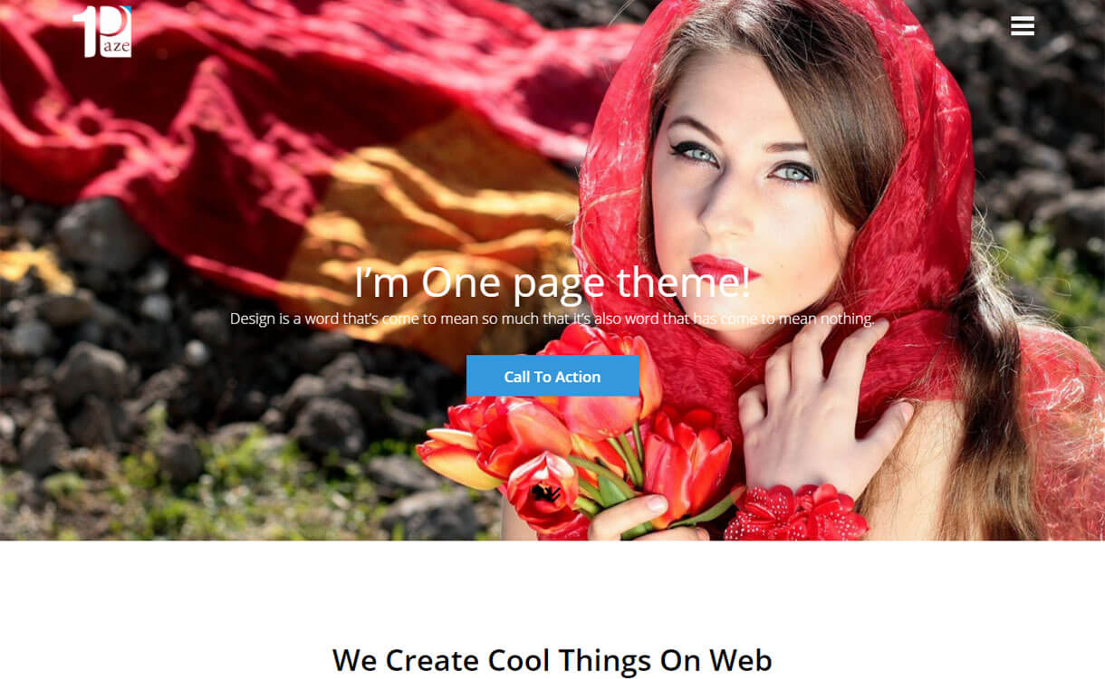 One Paze - 25+ Best Free WordPress One Page Themes for 2019