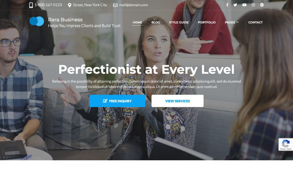 Rara Business - Free Responsive WordPress Theme