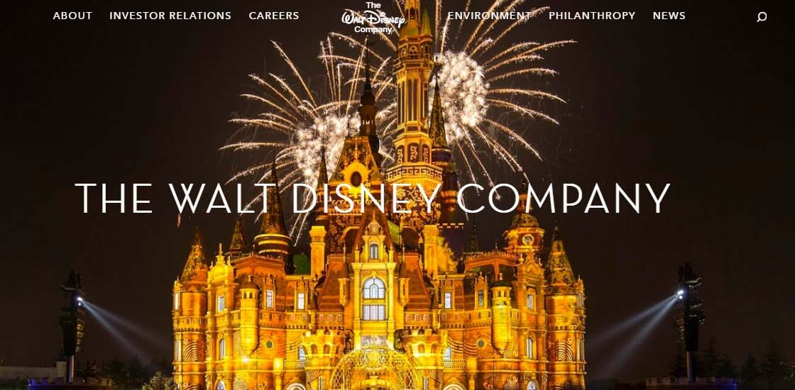 The Walt Disney Company - 47 Famous Websites Using WordPress As Their CMS
