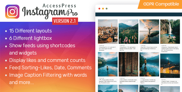 accesspress instagram feed pro - 5+ Best WordPress Instagram Feed and Gallery Plugins 2019 (premium list)