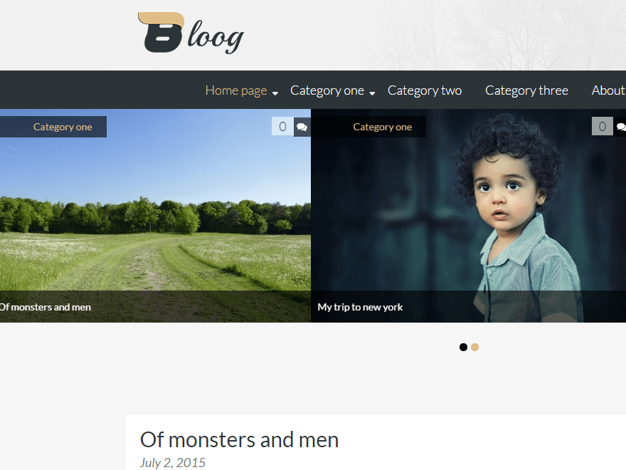 bloog lite - 50+ Best Free Responsive WordPress Themes 2019