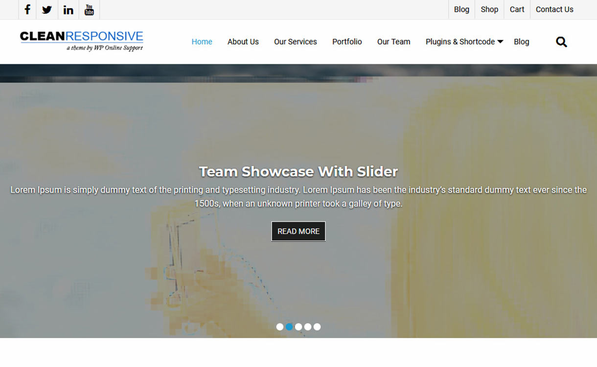 iClean Responsive Free WordPress Theme