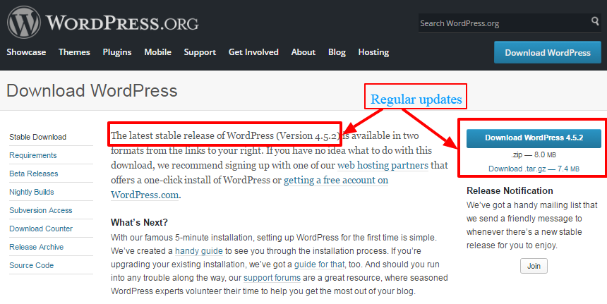 WordPress updates - 15 Reasons Why Choose WordPress for Business Websites