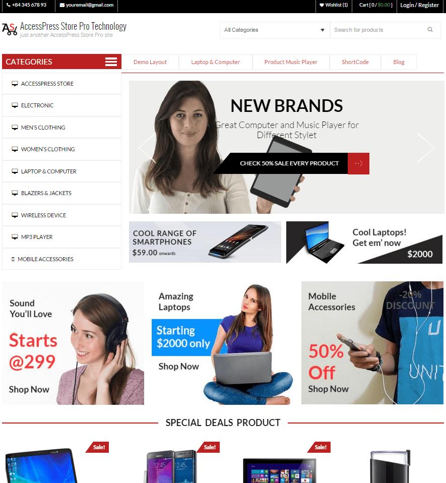 AccessPress Store Pro demo - AccessPress Store Pro: Perfect WooCommerce WP Theme