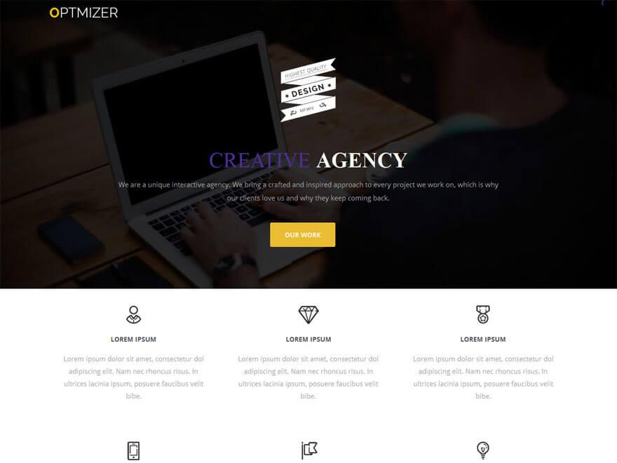 Optmizer - 25+ Best Free Responsive Magazine WordPress Themes 2020
