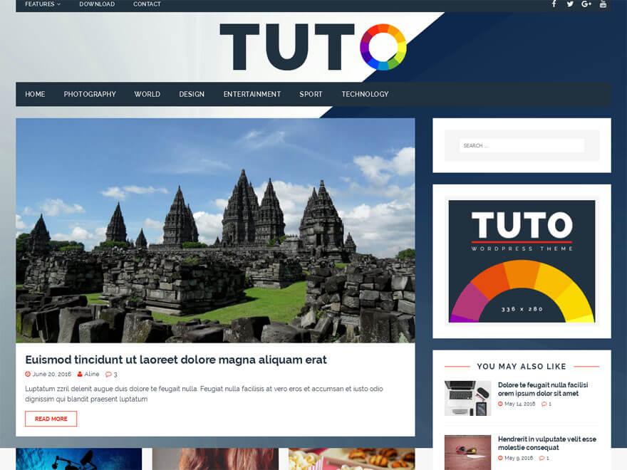 Tuto - 25+ Best Free Responsive Magazine WordPress Themes 2020
