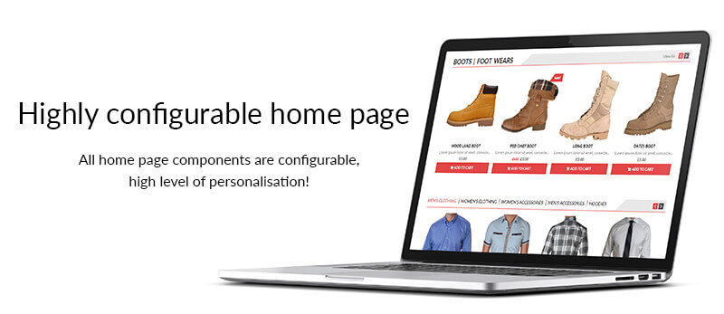 highly configurable home page - AccessPress Store Pro: Perfect WooCommerce WP Theme