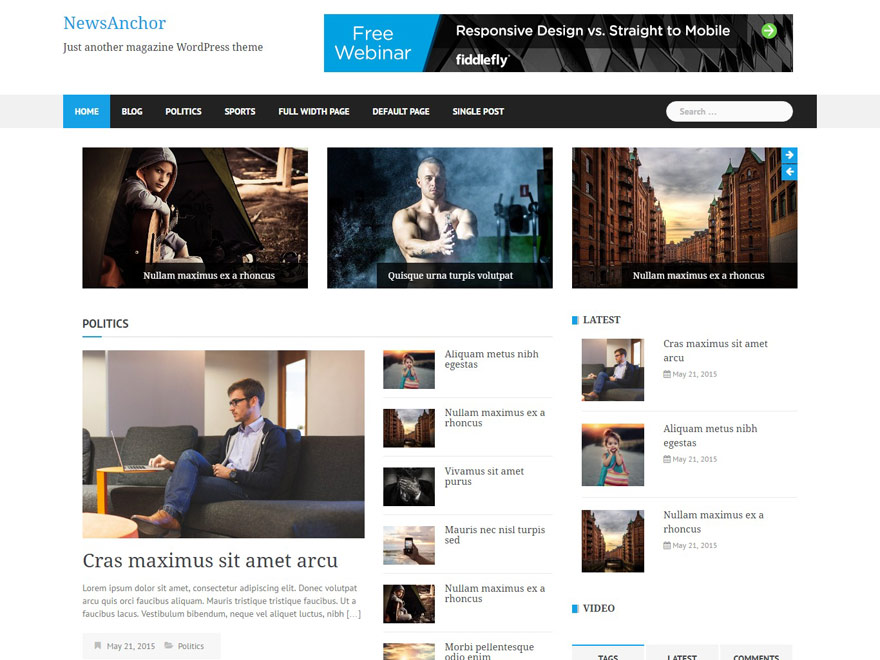 newsanchor - 25+ Best Free Responsive Magazine WordPress Themes 2020