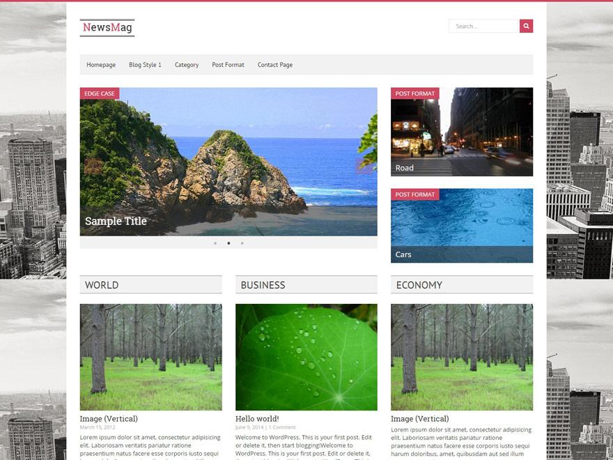 newsmag free wordpress magz - 25+ Best Free Responsive Magazine WordPress Themes 2020