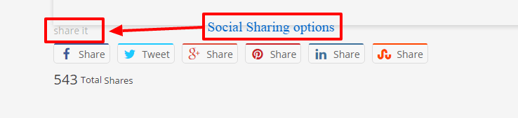 social sharing options - On-Page SEO Guide - How to Optimize your WordPress Blog