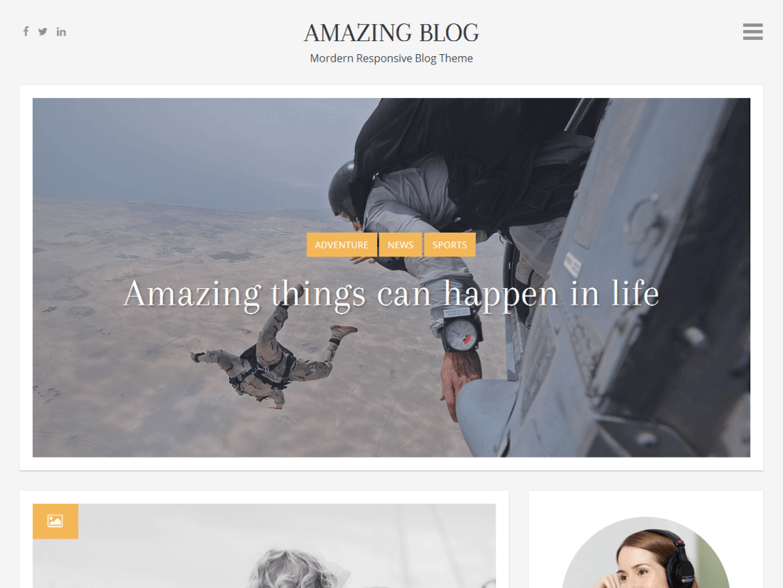 amazing blog - 11+ Best Free WordPress Themes May 2016 - WPAll Club