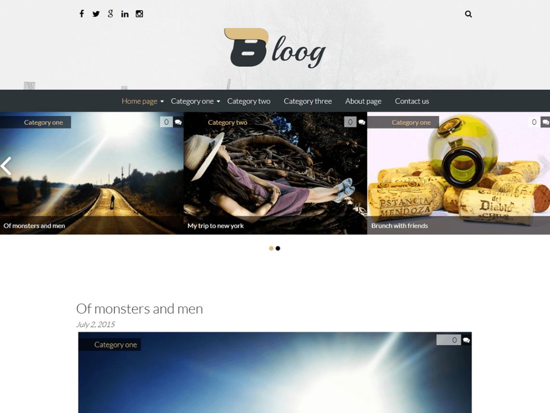 bloog lite - 11+ Best Free WordPress Themes May 2016 - WPAll Club
