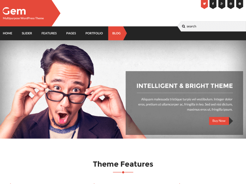 gem - 11+ Best Free WordPress Themes May 2016 - WPAll Club