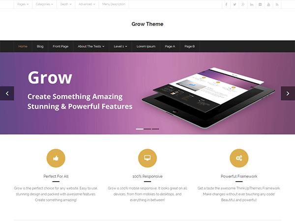 grow - 11+ Best Free WordPress Themes May 2016 - WPAll Club