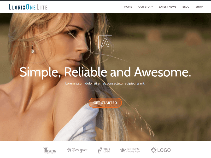 llorix one lite - 15+ Best Free WordPress Portfolio Themes 2019