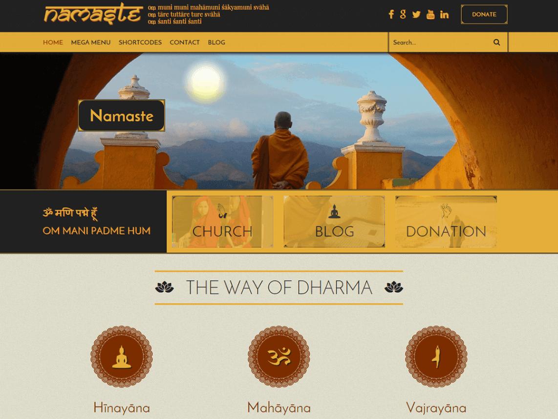 namaste lite - 11+ Best Free WordPress Themes May 2016 - WPAll Club