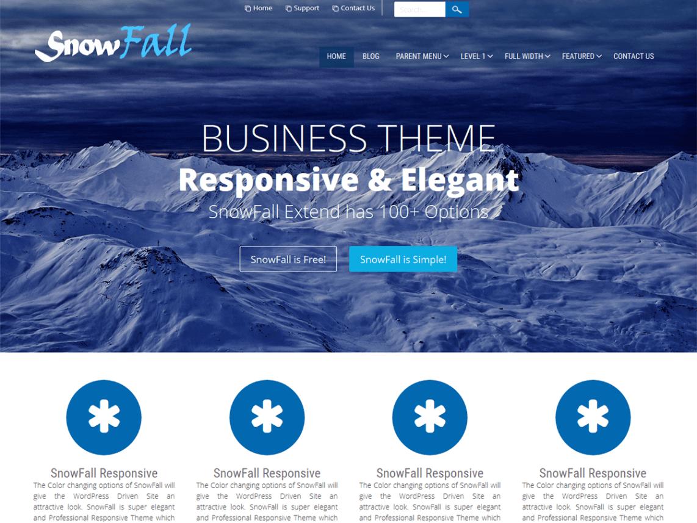 snowfall - 11+ Best Free WordPress Themes May 2016 - WPAll Club