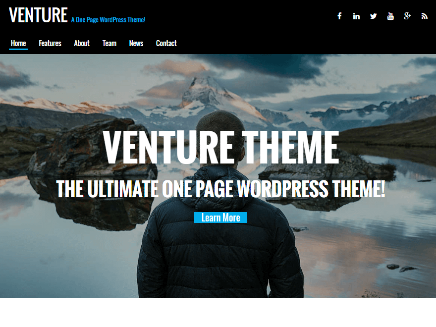 venture - 15+ Best Free WordPress Portfolio Themes 2019
